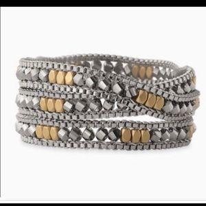 🆕STELLA & Dot bracelet necklace wrap. Two tone.